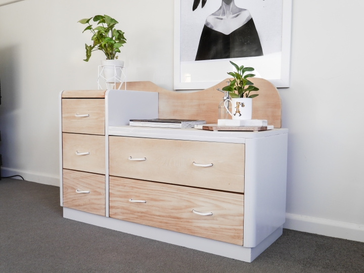 Up cycled side board