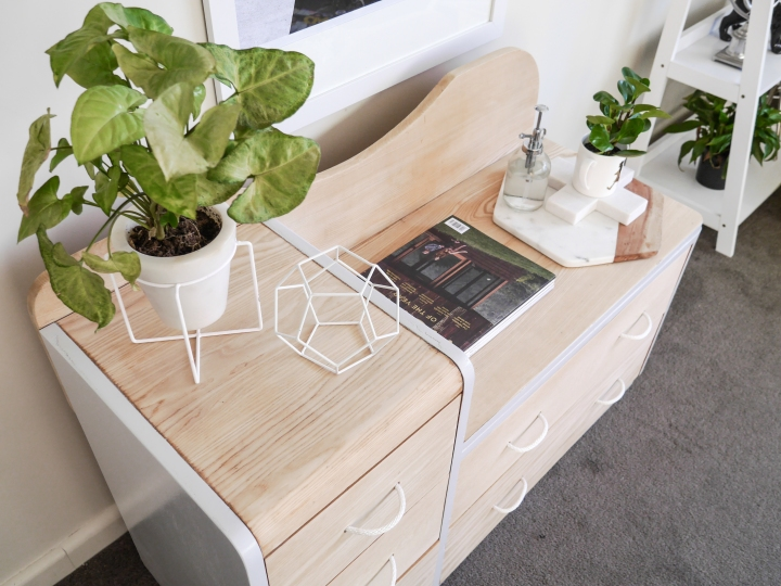 Blonde wood furniture