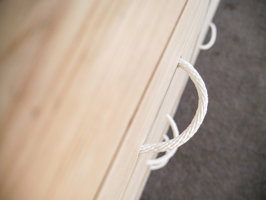 Rope handles for drawers