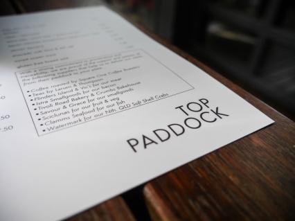 Top Paddock, Melbourne Brunch