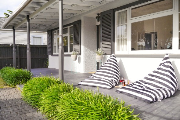 Forget the outdoor furniture - you need these overside lounger bean bags! UV resistant and made of weatherproof material these will have you ready for the summer break. WWW.EZIBUY.COM